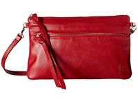 Mighty Purse Luxe Charging Crossbody Red Cow Leather Cross Body Handbags