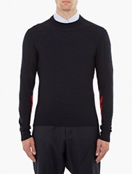 Oamc Navy Wool Formation Sweater
