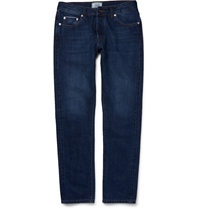 Officine Generale Slim Fit Washed Denim Jeans Blue