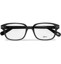 Brioni Square Frame Acetate Optical Glasses Black