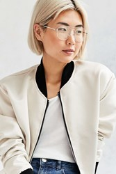Urban Outfitters Metal Aviator Readers Silver