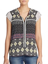 Collective Concepts Mixed Print Top Multi