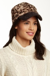 Something Special Hats Brown Animal Print Military Cap No Color
