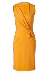 Ports 1961 Muskmelon Draped Wool Blend Sheath Dress Gr. 34