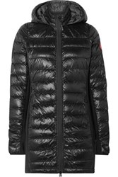 Canada Goose Hybridge Hooded Stretch Jersey And Quilted Shell Down Coat Black