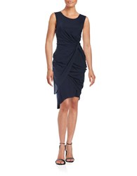 T Tahari Side Knot Sheath Dress Sea Bed