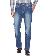 Rock And Roll Cowboy Reflex Double Barrel Denim With Stitches In Light Wash M0d6602 Light Wash Jeans Blue