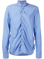 Marni Ruffled Shirt Blue