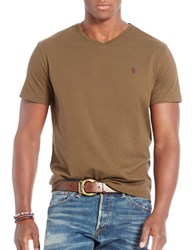 Polo Ralph Lauren Relaxed Fit V Neck T Shirt Defender Green