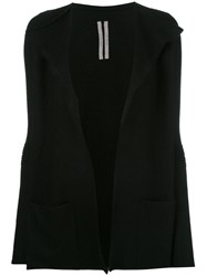 Rick Owens Open Front Cardigan Black
