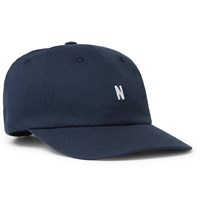 Norse Projects Logo Embroidered Cotton Twill Baseball Cap Blue