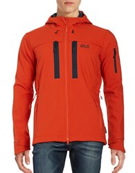 Jack Wolfskin Softshell Hooded Jacket Dark Orange