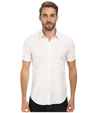 John Varvatos Cuffed Short Sleeve Shirt White Men's Short Sleeve Button Up