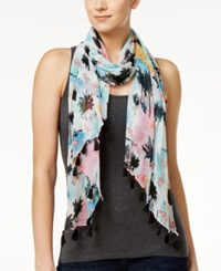 Inc International Concepts Flamingo Sunset Scarf Only At Macy's White Multi