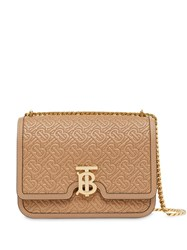 Burberry Medium Quilted Monogram Lambskin Tb Bag Brown