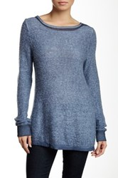 Luma Crochet Trim Sweater Blue