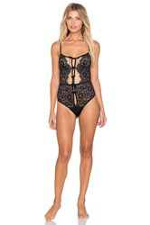 For Love And Lemons Kate Bodysuit Black