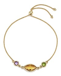 Bloomingdale's Multicolored Gemstone Chain Bracelet In 14K Yellow Gold Multi Gold