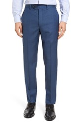 Todd Snyder Men's White Label Mayfair Flat Front Check Stretch Wool Trousers Medium Blue