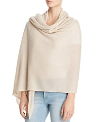 Bloomingdale's C By Cashmere Travel Wrap 100 Exclusive Light Oatmeal