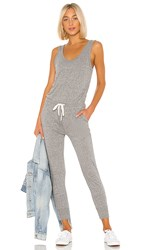 N Philanthropy Opal Jumpsuit In Gray. Heather Grey