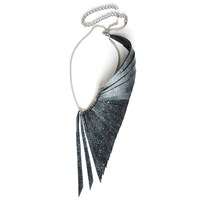 Ware London Wing Necklace Black White Silver
