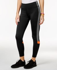 Energie Active Juniors' Stacey Colorblocked Leggings Black Grey Orange