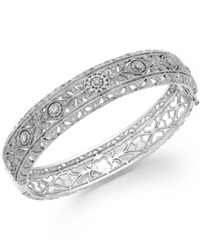 Effy Collection Bouquet By Effy Diamond Vintage Bangle In 14K White Gold 1 1 8 Ct. T.W.