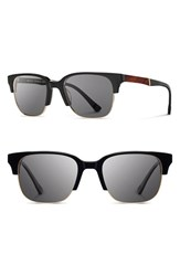 Men's Shwood 'Newport' Sunglasses Black Mahogany Grey