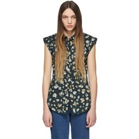 See By Chloe Green And Multicolor Button Down Shirt