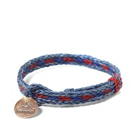 Chamula Braided Horsehair Bracelet Grey Blue And Red