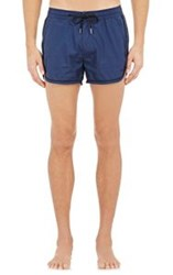Marc By Marc Jacobs Side Striped Swim Trunks Blue