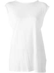 Mm6 Maison Margiela Draped Criss Cross Back Top White
