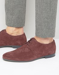 Hugo By Boss Paris Suede Derby Shoes Red