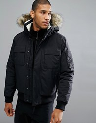 Jack Wolfskin Brockton Jacket With Faux Fur Hood In Black 6000 Black