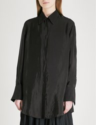 Song For The Mute Oversized Woven Shirt Black