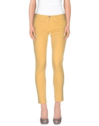 Minimal Trousers Casual Trousers Women Ocher
