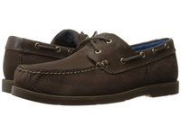 Timberland Piper Cove Leather Boat Shoe Dark Brown Nubuck Men's Lace Up Casual Shoes