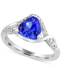 Effy Collection Tanzanite Royale By Effy Tanzanite 1 1 2 Ct. T.W. And Diamond 1 5 Ct. T.W Ring In 14K White Gold