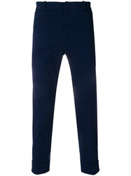 Paolo Pecora Turn Up Hem Trousers Blue