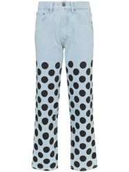 House Of Holland Polka Dot Printed Jeans Blue