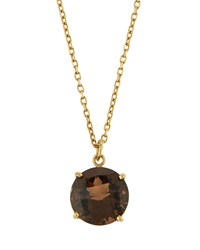 Roberto Coin Ipanema 18K Round Smoky Quartz Pendant Necklace Women's