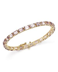 Bloomingdale's Rose Amethyst Tennis Bracelet In 14K Yellow Gold Gold Purple