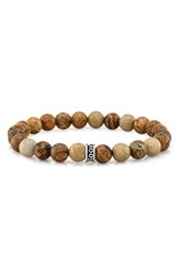 Room101 Men's Agate Bead Stretch Bracelet