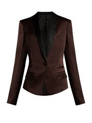 Haider Ackermann Kuiper Single Breasted Satin Blazer Brown