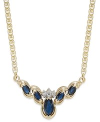 Macy's Sapphire 7 8 Ct. T.W. And Diamond Accent Fancy Collar Necklace In 14K Gold Yellow Gold