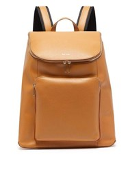 Paul Smith Leather Backpack Tan