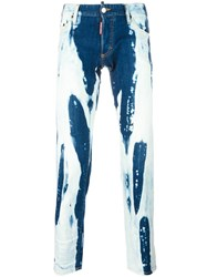 Dsquared2 Clement Bleached Jeans Blue