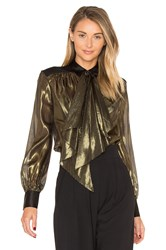 Rachel Zoe Jaelyn Blouse Metallic Gold