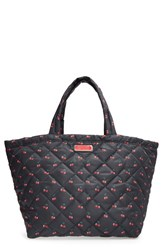 Marc By Marc Jacobs 'Crosby' Quilted Nylon Weekend Tote Black Cherry Print